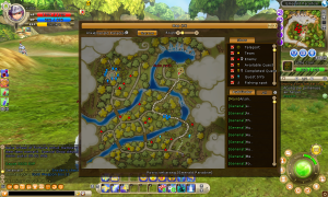 MAPnya gede per peta-_- wuw cape jelajahinnya, ini ga kaya map di game MMORPG biasanya, biasanya kan game RPG itu mapnya gede langsung jadi satu, ini gamenya per sub-map jadi mapnya itu harus pindah dari map satu ke map yang lain.